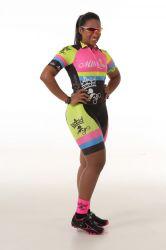 Bretelle Ciclismo Feminino Flúor