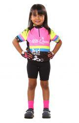 Camisa Ciclismo Infantil Flúor