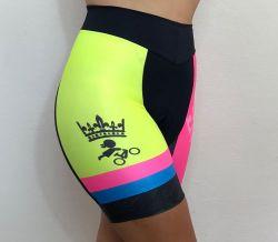 Bermuda Ciclismo Feminino Flúor