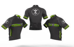 Camisa Ciclismo Tropical Black