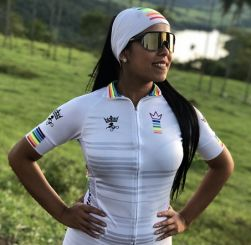 Camisa Ciclismo Feminina Colors White