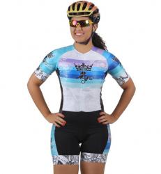 Macaquinho Ciclismo Sunset Azul