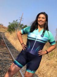 Macaquinho Ciclismo Aqua Mint