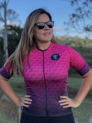 Camisa Ciclismo Chain Rosa