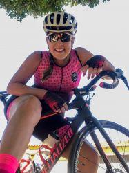 Macaquinho Ciclismo Chain Rosa Regata