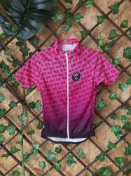 Camisa Ciclismo Infantil Chain Rosa