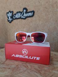 Óculos Absolute After - Branco/Vermelho