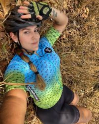Camisa Ciclismo Premium Chain Verde e Azul