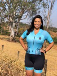 Macaquinho Ciclismo Aqua Blue (Modelagem antiga)